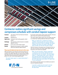 Eaton B-Line Conduit Trapeze Support