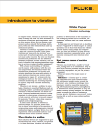 Fluke Vibration Analysis