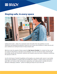 Safe Space Checklist for Building Areas